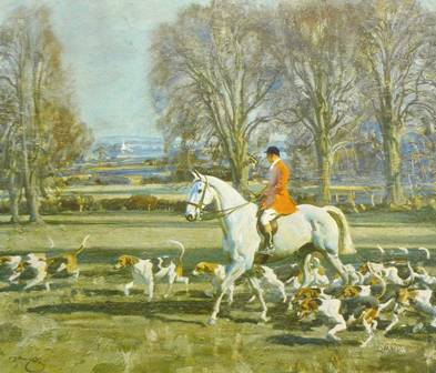 A November Morning in Pytchely Country by Sir Alfred Munnings.