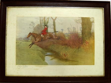 Pytchley, Frank Freeman at Crick by Cecil Aldin.