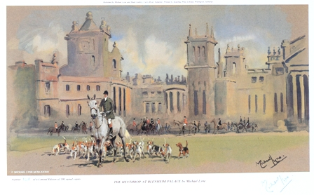 The Heythrop at Blenheim Palace Signed by Michael Lyne