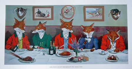 Mr.Fox's Hunt Breakfast on Xmas Day by Harry Nielson